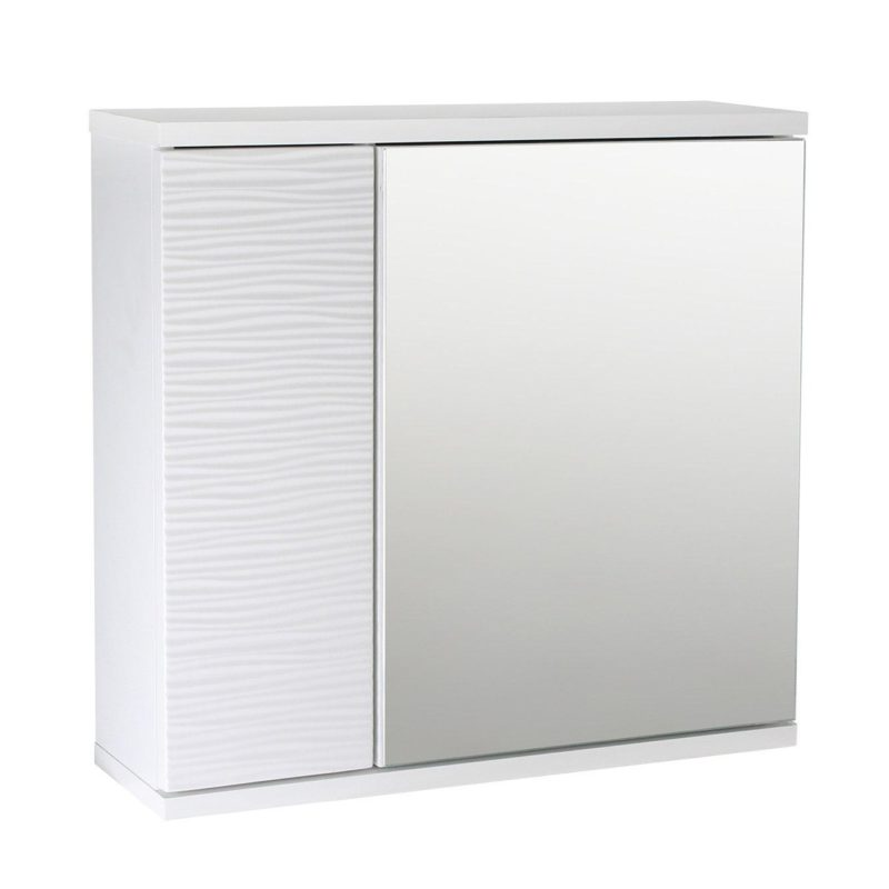 White wall-mounted bathroom cabinet