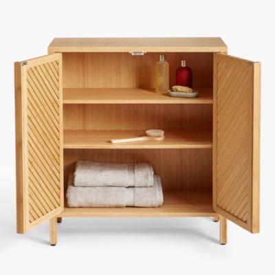 -door bamboo wood floor cabinet