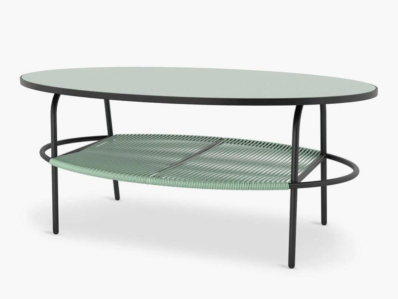 Green top garden coffee table