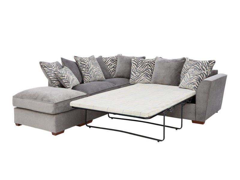 Grey left handed corner sofa bed
