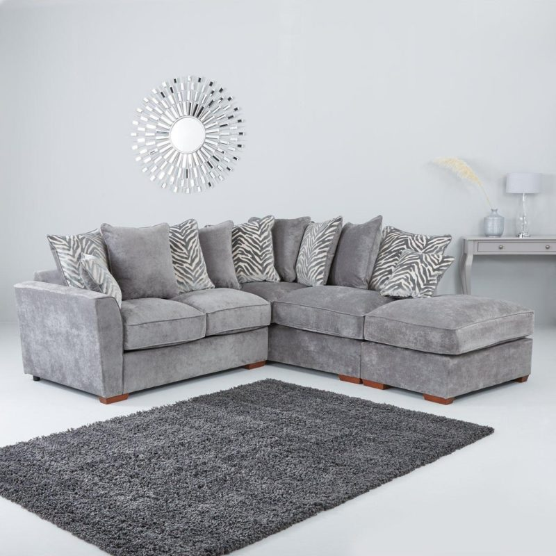Grey right-handed corner sofa