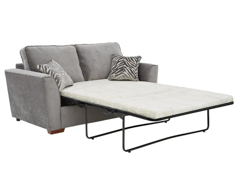 Grey fabric sofa bed