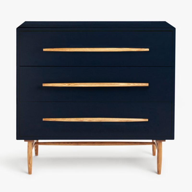 Dark blue 3-drawer chest