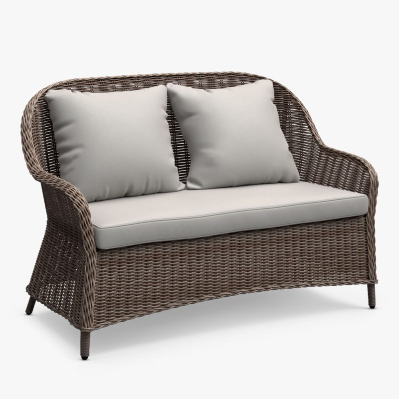 2-seater wicker sofa