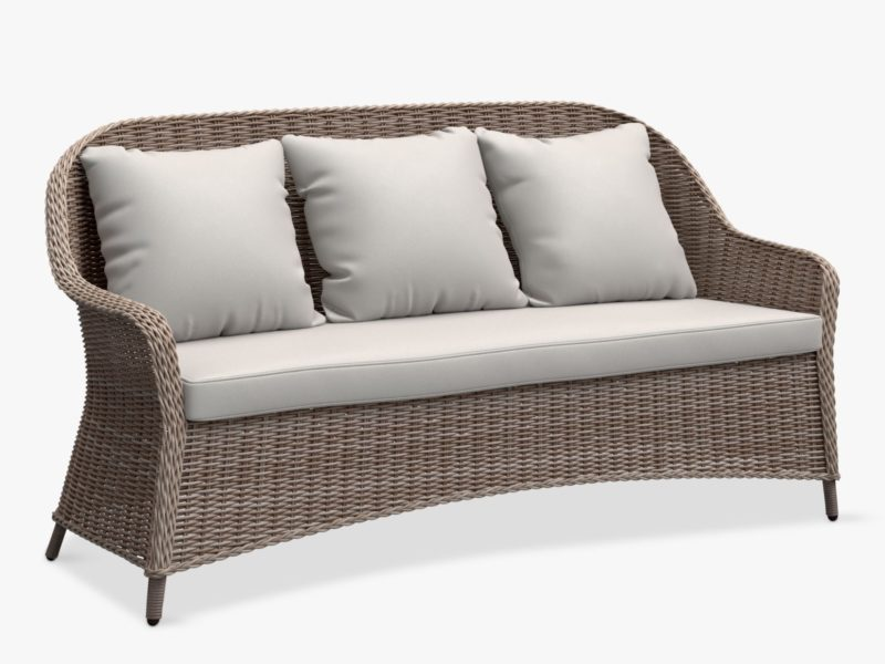 3-seater wicker sofa