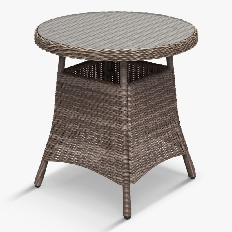 Round wicker bistro table