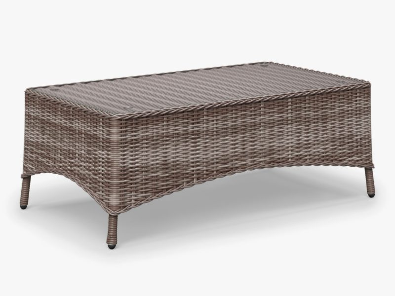Rectangular wicker dining table