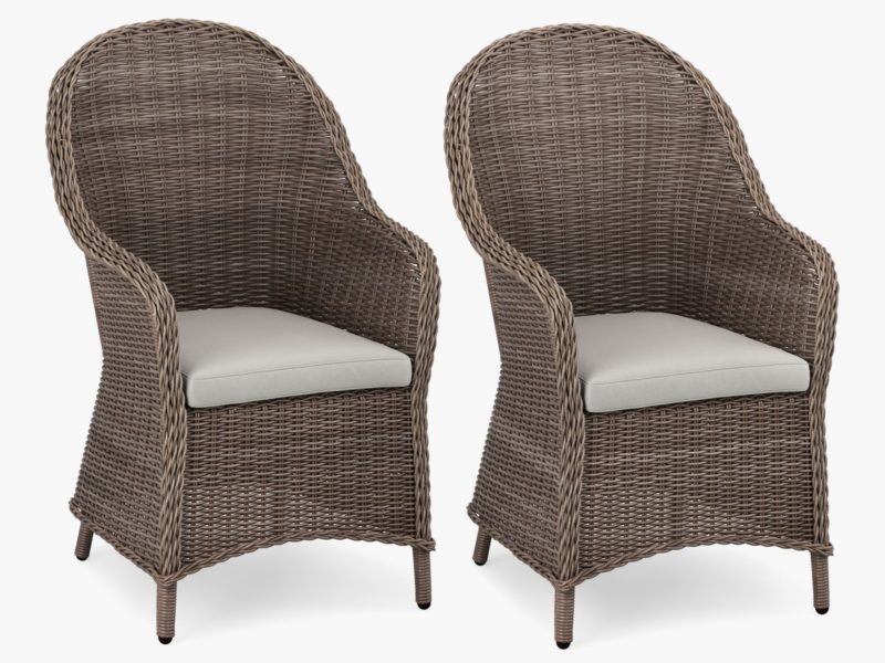 Pair of wicker dining chairs