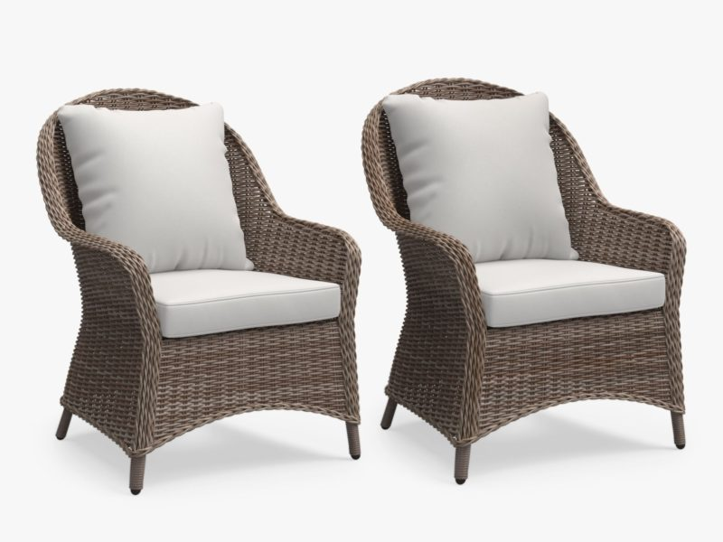 Pair of wicker loungers