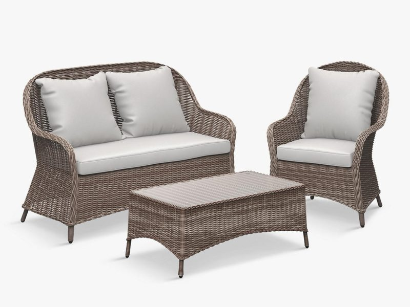 Woven wicker garden furniture