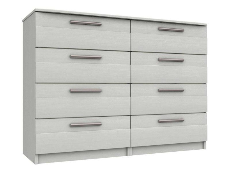 White 8 drawer chest