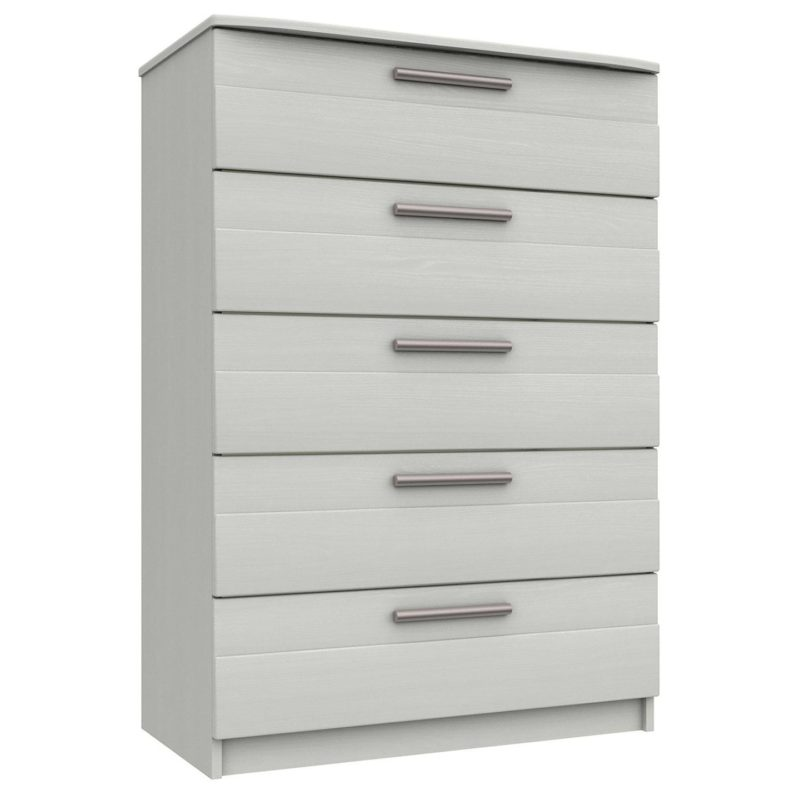 White drawer chest with bar handles