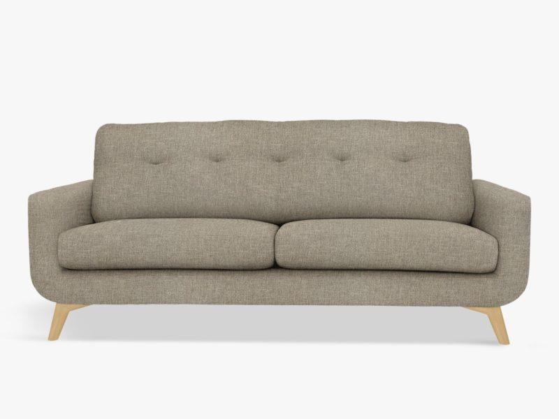 3-seater grey fabric sofa