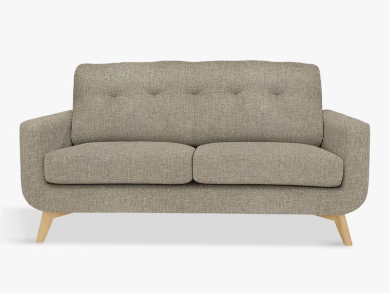 Grey 2-seater fabric sofa