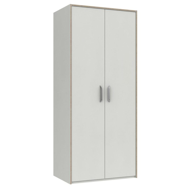 White 2-door wardrobe