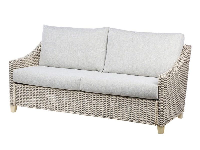 Rattan 3-seater sofa