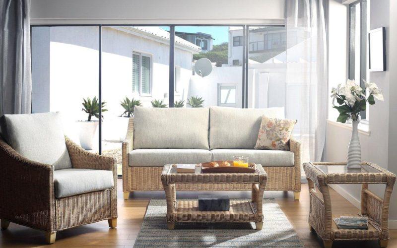 Natural rattan conservatory furniture