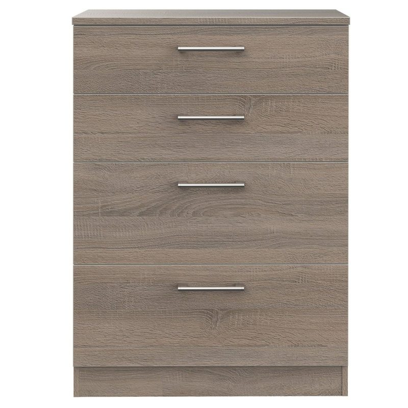 Oak effect 4-drawer chest