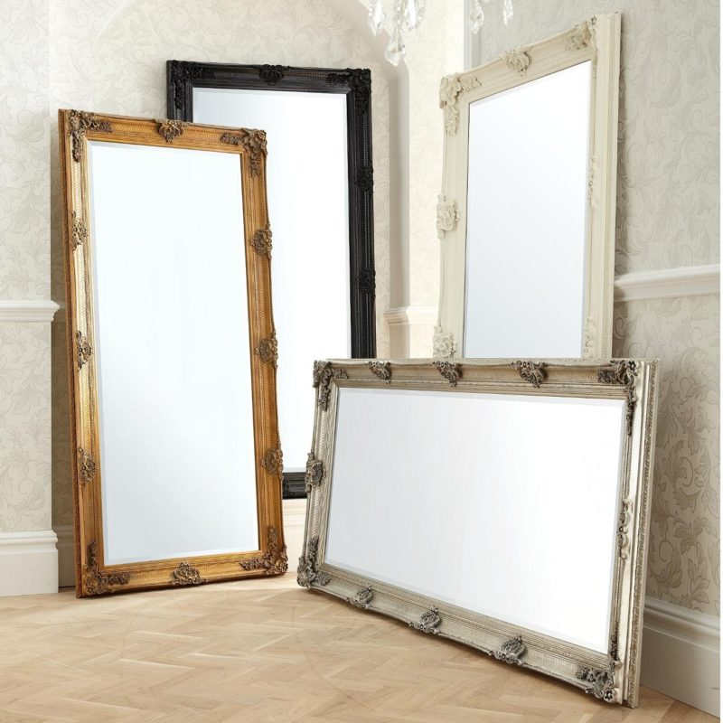 Large format baroque-style mirrors