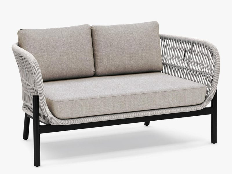 Natural rope weave 2-seater sofa