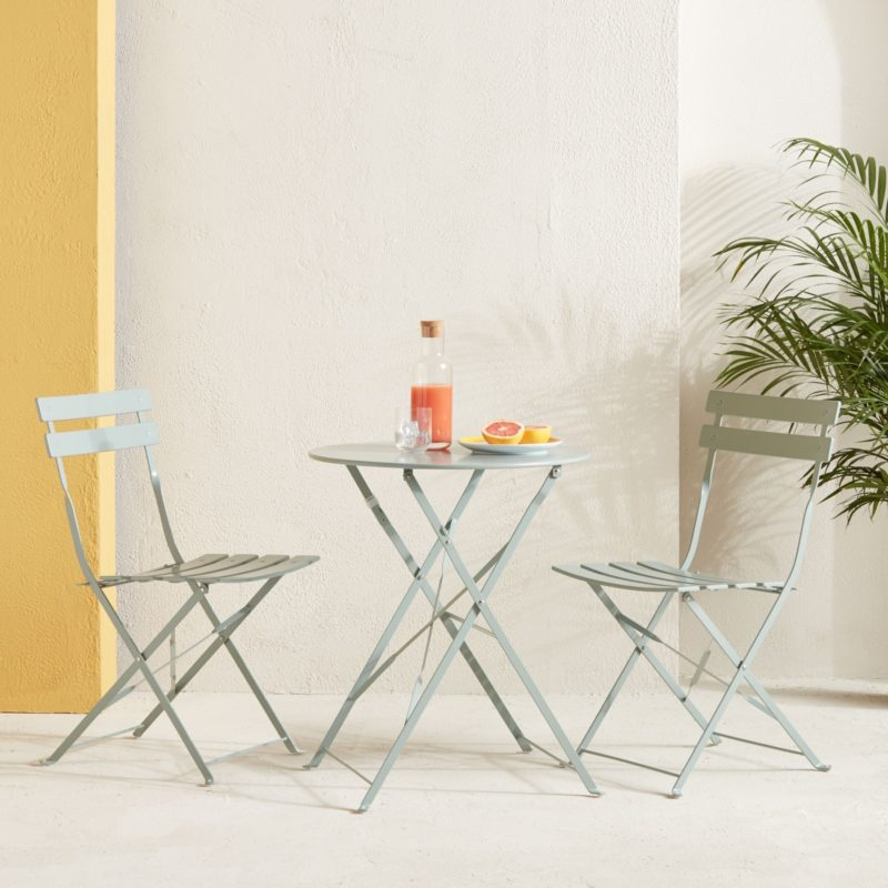Dusty green bistro set