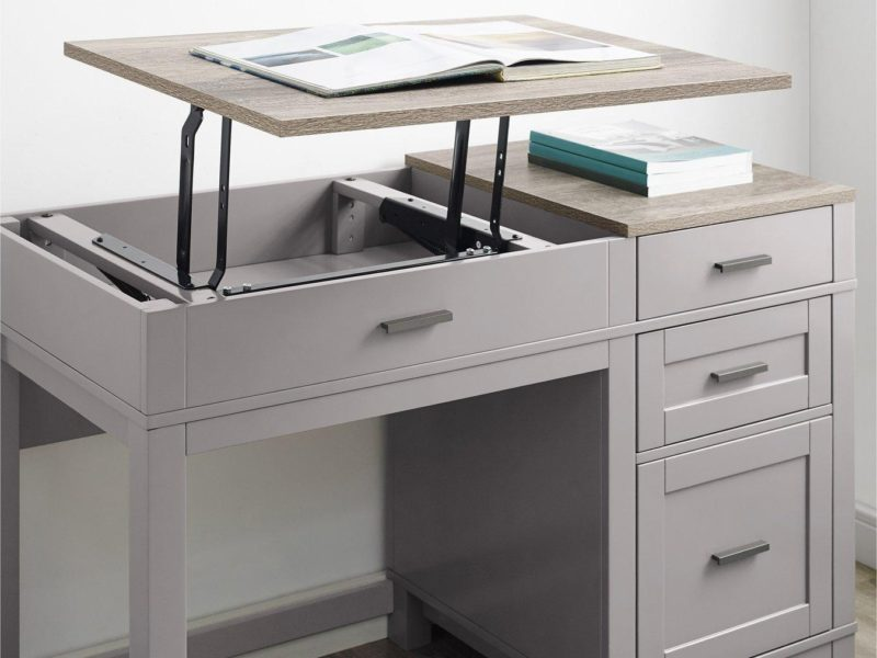 Desk with raised desktop