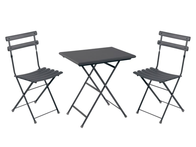 Ironcoloured outdoor dining set