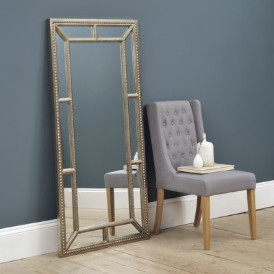 Large mirror with gold-coloured frame