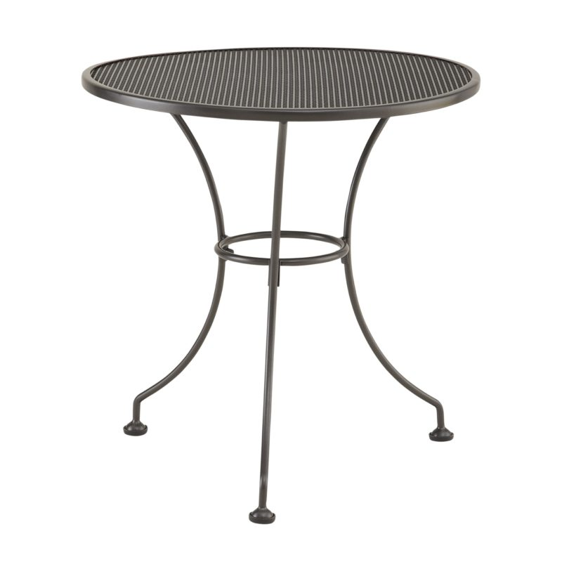 Round metal 2-seater bistro table