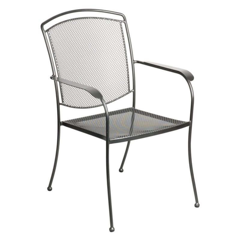 Outdoor metal dining chair