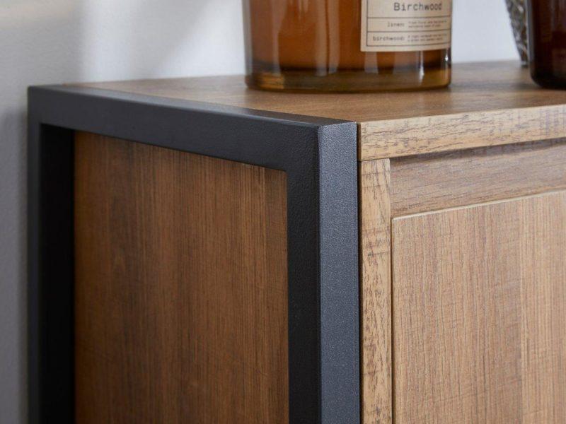 Linley cabinet black metal frame