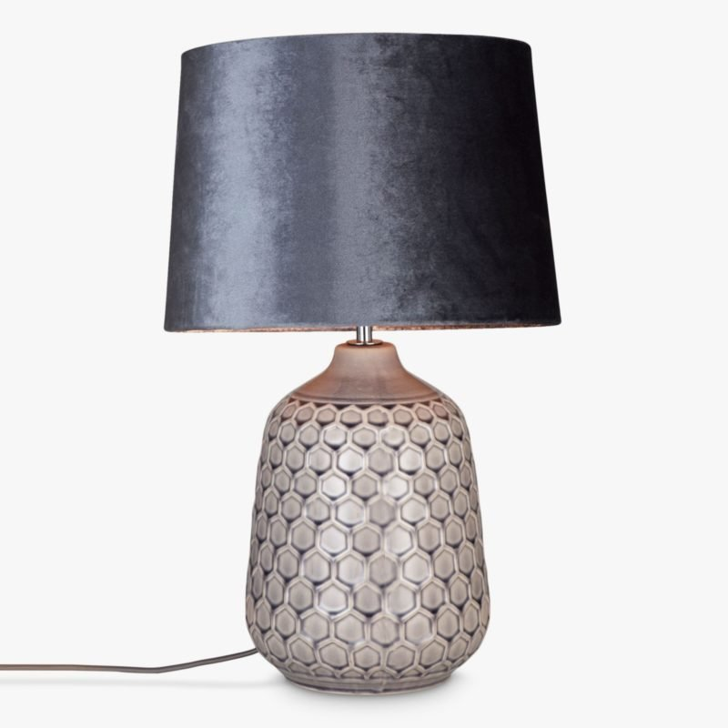 Table lamp with decorative ceramic base