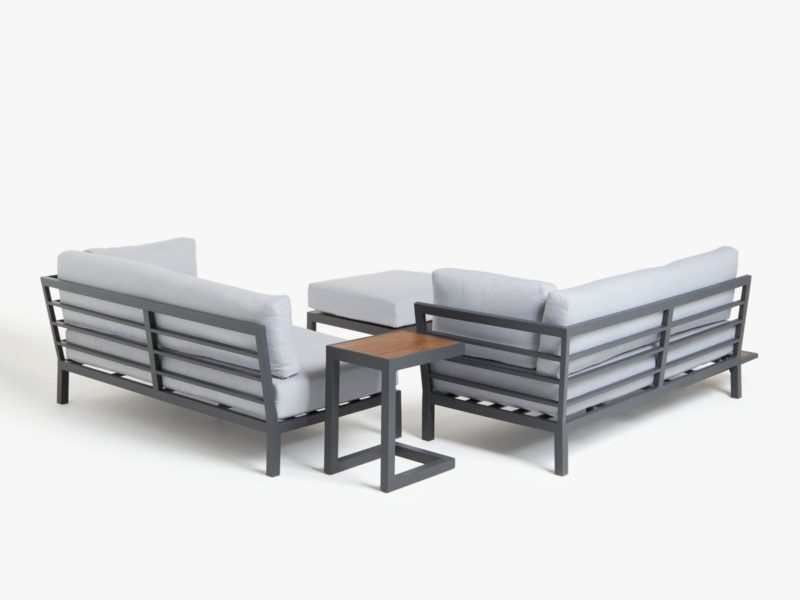 Grey garden furniture set (rear view)