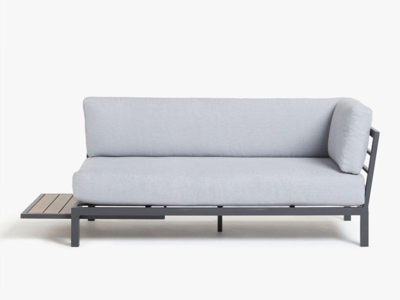 Modular sofa with side table