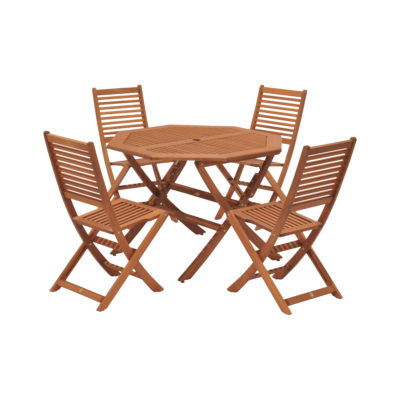 4-seater outdoor table and chair set