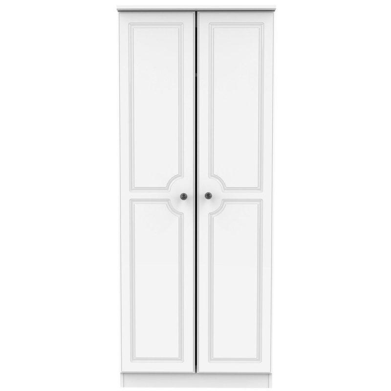 2-door wardrobe, white