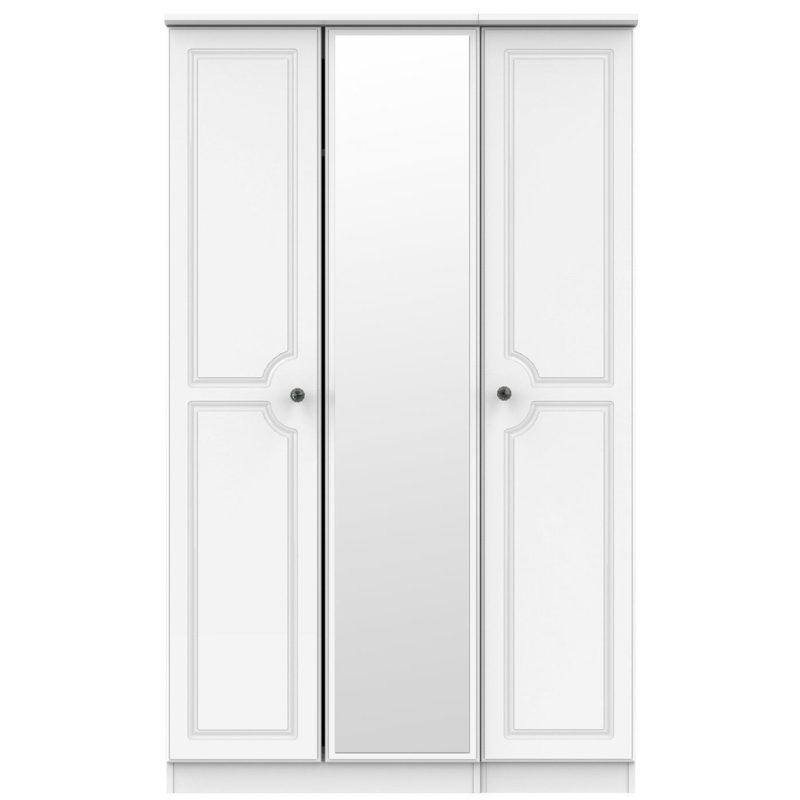 3-door wardrobe with mirror