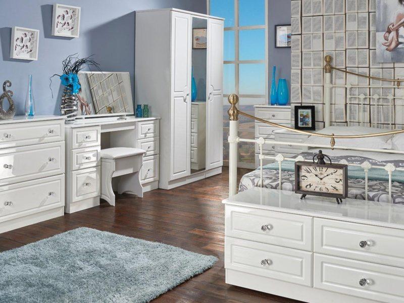 Gloss white bedroom furniture