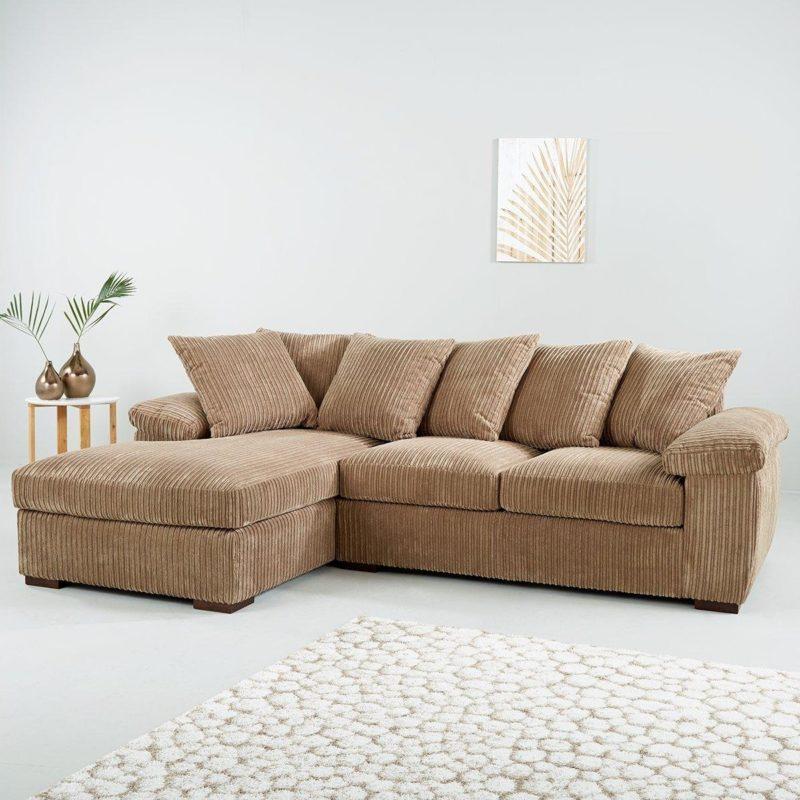 Mocha corner chaise sofa