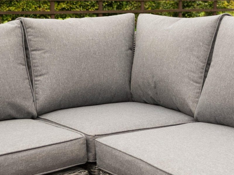 Grey fabric seat and back cushion
