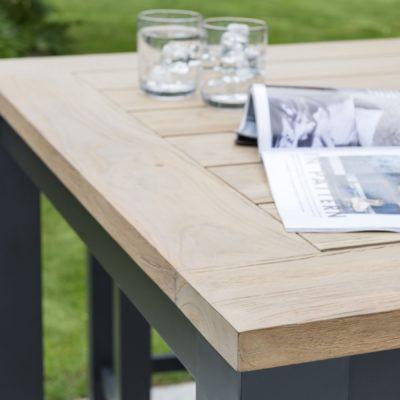 Garden table with teak wood top
