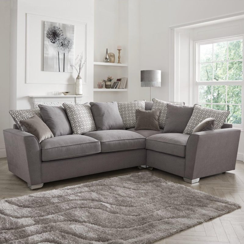 Right-handed corner group sofa