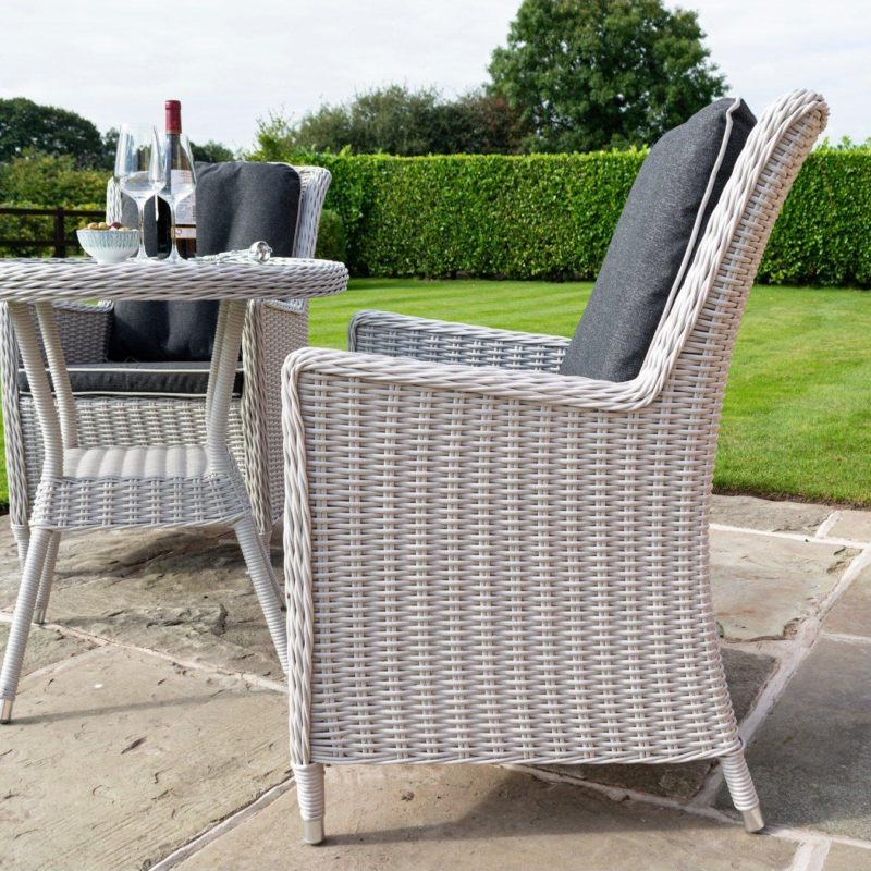 White rattan garden chair