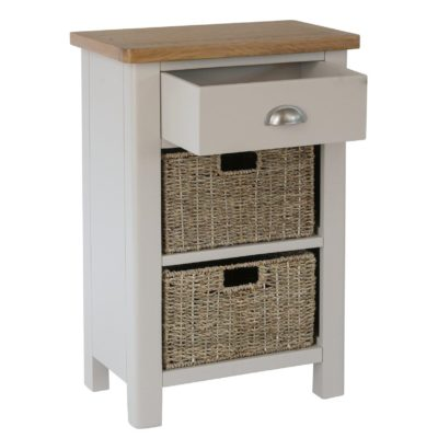 2-tier sideboard with baskets and drawer