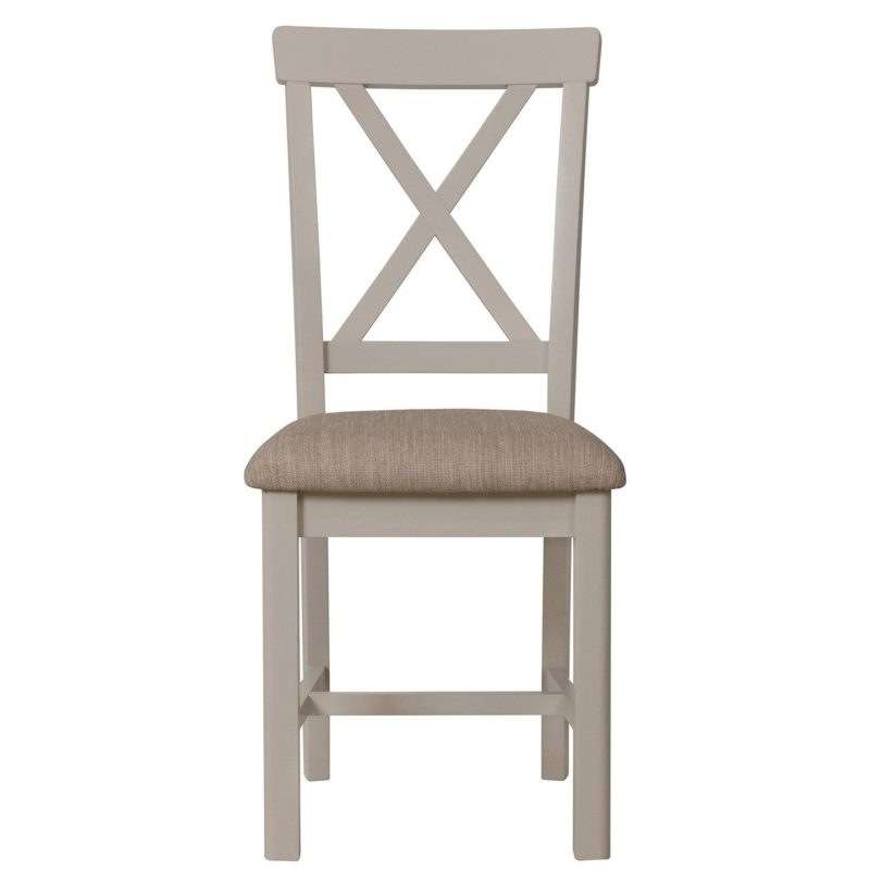 Grey painted dining chair