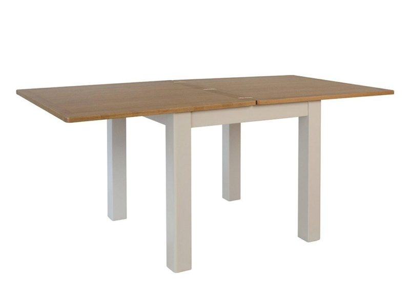 Flip-top extending dining table