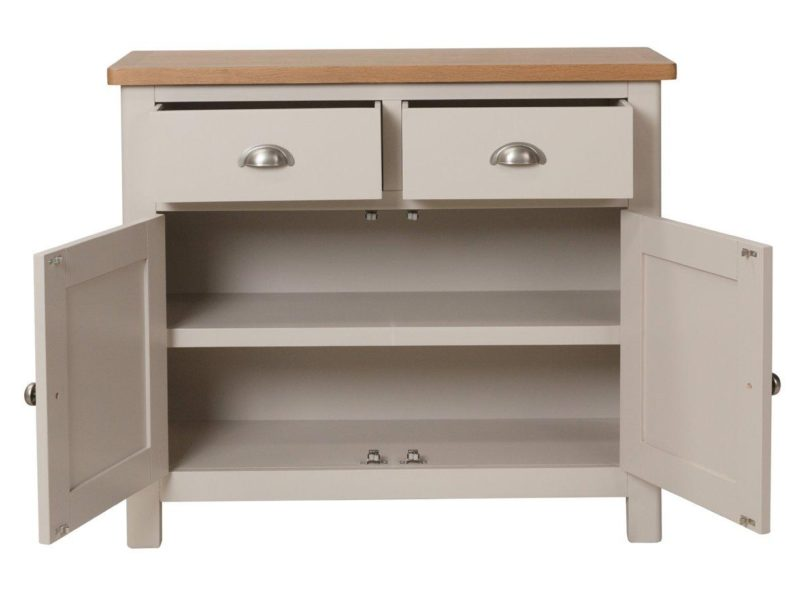 Grey painted sideboard with 2 drawers