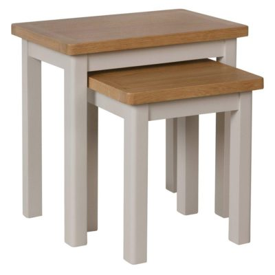 Grey and oak occasional tables