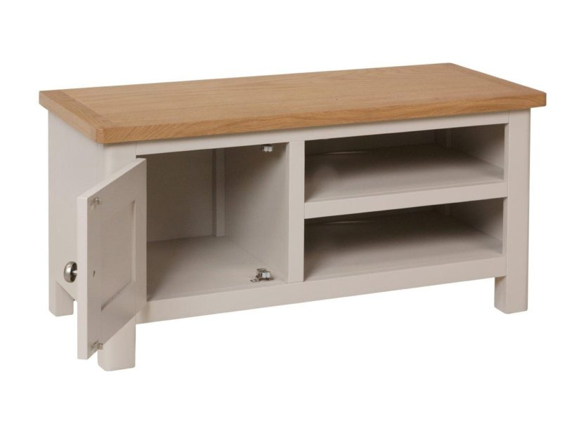 TV Console with 2 shelves and a cupboard