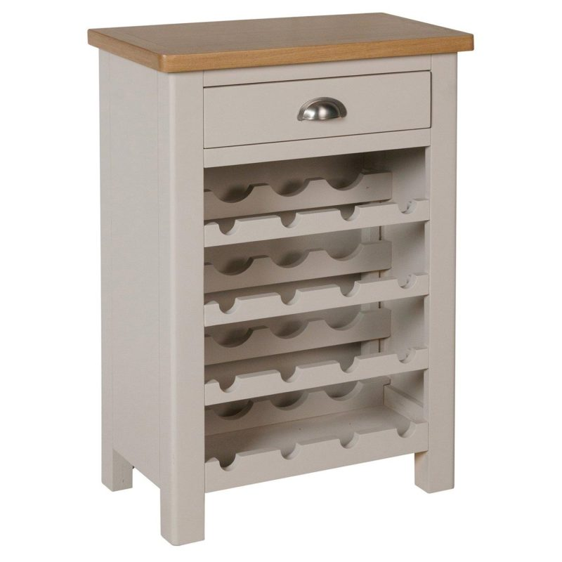 Grey-painted wine cabinet
